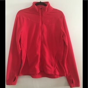 Pink Nike Therma Fit Fleece Full Zip Jacket w/thumb holes Size L